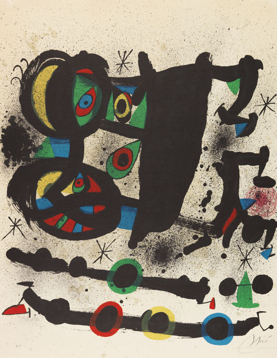 Miró, Joan - Lithograph in colors