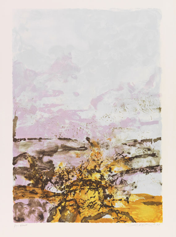Wou-Ki, Zao - Lithograph in colors