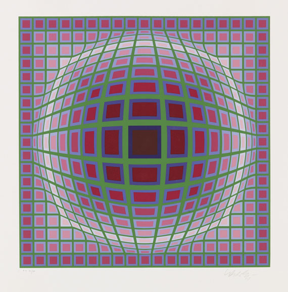 Vasarely, Victor - Silkscreen in colors