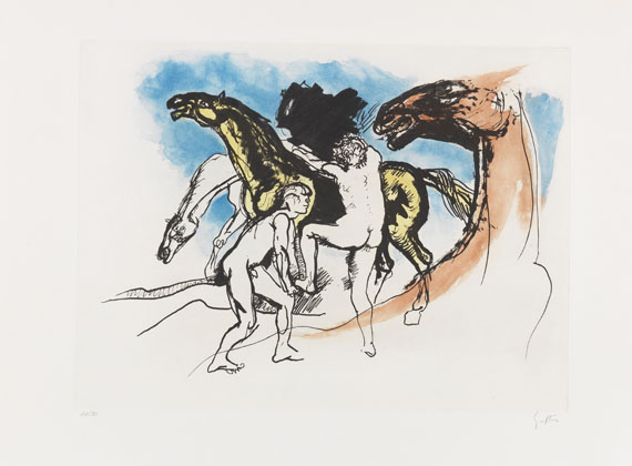 Guttuso, Renato - Etching and aquatint in colors