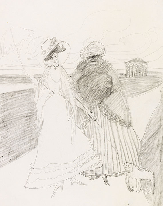 Feininger, Lyonel - Pencil drawing
