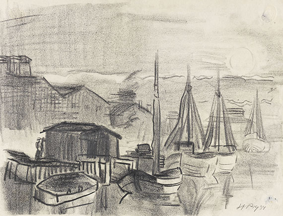 Pechstein, Hermann Max - Pencil drawing