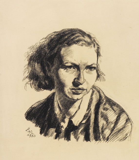 Meidner, Ludwig - Charcoal drawing
